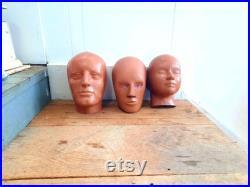 80's Vintage Crash Test Dummy Head Rubber Man Male Mannequin, Child Boy Girl, Woman Female, Store Display, Unusual, Unique Dummies, Family