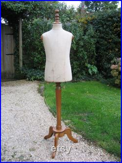 A Rare Vintage French Buste Girard Child Mannequin On Adjustable Wooden Stand