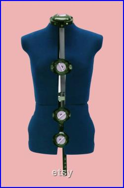 Adult Female Adjustable Dress Form Sewing Mannequin Torso with 12 Fabric Adjustment Dials FAST SHIPPING