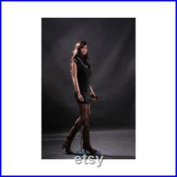 Adult Female Full Body Fleshtone Fiberglass Realistic Mannequin with Wig and Base LISA9