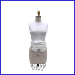 Adult Female Full Body Professional Tailor Dress Form Pinnable Mannequin with Right Arm and Padding Kit 601-FULL