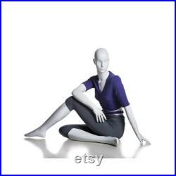 Adult Female Glossy White Fiberglass Abstract Yoga Mannequin YOGA09