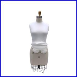 Adult Female Half Body Professional Tailor Dress Form Pinnable Mannequin with Right Arm and Padding Kit 601-HALF