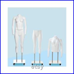 Adult Female Matte White Headless Plastic Invisible Ghost Photography Mannequin GH1-PS