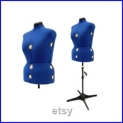 Adult Female Plus Size Adjustable Dress Form Sewing Mannequin Fabric Torso with 12 Adjustment Dials FH-10