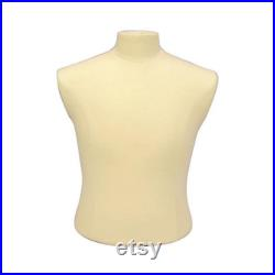 Adult Male Torso Shirt Dress Form Pinnable Mannequin with Base MBSW