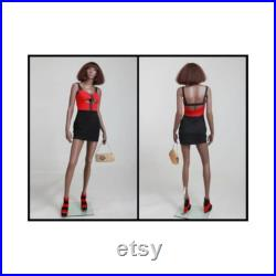 African American Women's Full Body Realistic Fiberglass Mannequin MYA1