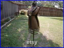 Antique Acme dress form-PICK UP ONLY-size A-needs loving-home and living-home decor-primitive-rustic-with stand-