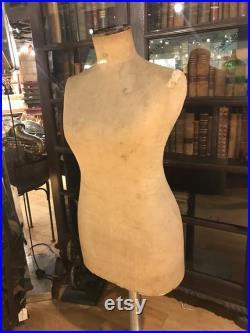 Antique Mannequin Body Form, Woman Fashion Couture Dress Form