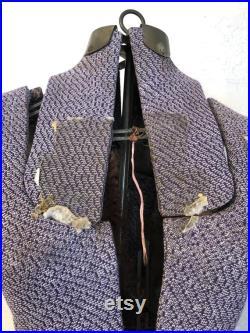 Antique Purple Fabric Adjustable Dress Form Mannequin Dress Makers Model