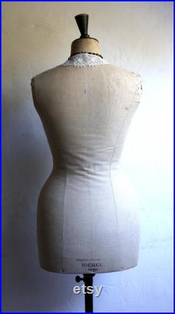 Antique STOCKMAN Mannequin French Tailors Dummy with Stand Dress Form Shop Display 1800s Napoleon III