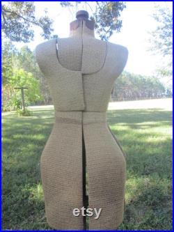 Antique dress form, Vintage dress form, mannequin, french decor,dressmaker, tailor, Paris,iron stand, tweed, adjustable, form, store display