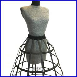 Art Mannequin Gothic Dress Form Bust form Hand covered Full Sized Display Mannequin with Hoop Skirt