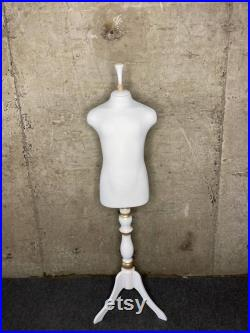BAROQUE kid dress form in White Soft fully pinnable professional child dress form interior mannequin