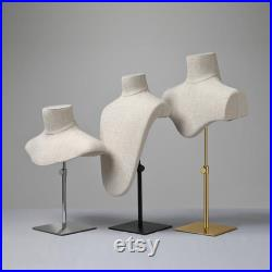 Canvas Bust form, necklace display props for jewelry holder, window props