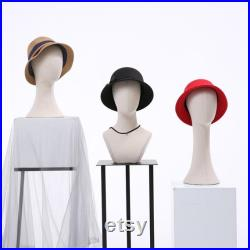 Canvas Mannequin Head Form, Fully Pinnable Vintage Cloth Head Mannequin, Head Hat Stand Display, lace Head Wig Stand, Hat Rack with Fabric