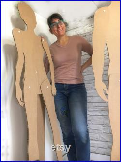 Cardboard mannequin removable, female mannequin, male mannequin, store window display, hanging mannequin