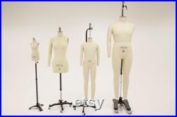 Chest 38 Male Full Body, Professional Tailors Dress Form with Collapsible Shoulder