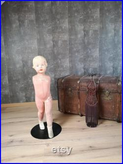 Child Mannequin Doll Plaster and Hand Painted Mannequin Blond Girl Mannequin Shop Mannequin