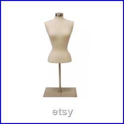 Cream Female Body Form Tabletop Blouse Form with Base Personalize Option Monogram