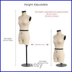 DL262 Half scale dress form, 1 2 mini sewing tailor trouser female fitting mannequin,dressmaker's dummy miniature pattern model-SIZE 8
