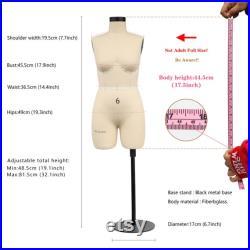 DL266B Half scale dress form 1 2 US Woman plus size 6, height 45.5cm lingerie bust dressmaker dummy tailor 1 2 slim bust sewing mannequin