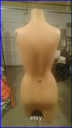 Decter Mannekin Company female Decter torso Mannequin dress form fiberglass adjustable chrome stand 1960s