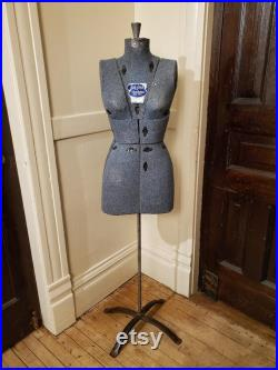 Dress Maker's Dress Form-Female, Sally Stitch Push Button Form, Blue Heather Knit, Variable Height, FREE Shipping, Only 199.95 Each