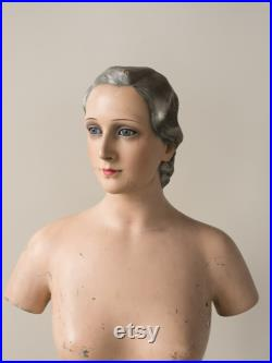 Exceptionally rare Mannequin, beautifully hand-painted 1930'