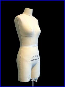 FCE Half-Scale Professional Mannequin, Ida, Tailors Dummy, Draping Stand, Height-Adjustable Stand