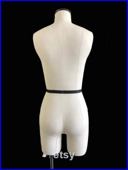 FCE Half-Scale Professional Mannequin Ilina, Female Tailors Dummy with Legs, Draping Stand, Plus Skirt, Bodice and Trouser Blocks.