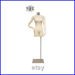 Female Body Form Flexible Arms and Base Personalize Option Monogram