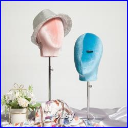 Female Male Velvet Head Mannequin Head,Hat Jewelry Cap Wig Display Head Model ,Clothing Store Window Display Head Dummy