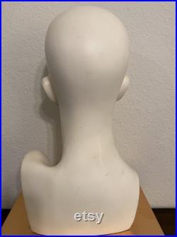 Female Mannequin Head Noriko Wig Head Makeup Vintage Lady Head Hat Display