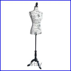 Female Mannequin Torso Dress Form With Tripod Stand Display Foam Clothing