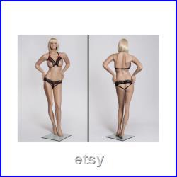 Fleshtone Realistic Female Full Body Mannequin with Wig MZ-MARY