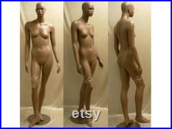 Full Body African American Female Fiberglass Realistic Mannequin with Base CCDR4