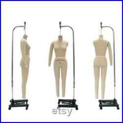 Full Body Professional Dress Form with Base Sizes 2, 4, 6, 8,10,12 Personalized Dress Form Option Monogram