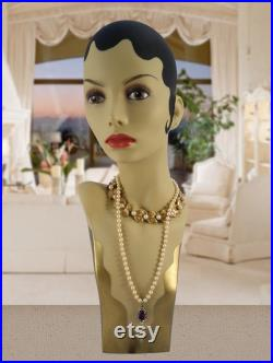 Glamour Flapper Style Mannequin Head M2020