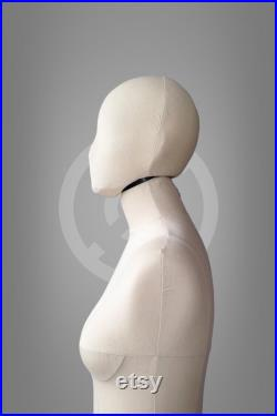 HEAD for Sofia and Anastasia dress forms, cotton cover Pinnable soft head for draping, pattern Mannequin accessory Tailor dummy