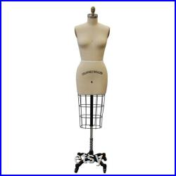 Half Body Professional Dress Form with Base Size 4