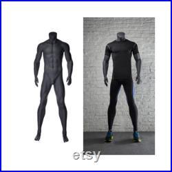 Headless Male Men's Mannequin Dark Gray Matte Finish NI-2