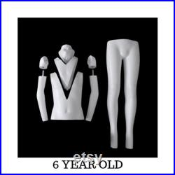 Invisible Ghost Children's Mannequin with Rolling Base Ages 2T-12T GHK