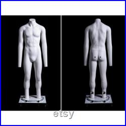 Invisible Ghost Male Mannequin with Adjustable Rolling Base GH4
