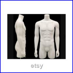 Invisible Ghost Male and Female Mannequin Set 3 4 Body with Arms and Thighs Includes Base TFMW-IV