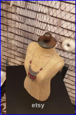 Jute Mannequin Stand, Handmade Fabric Body Mannequin, Hat Display Stand, Manikin Head, Craft Display, Accessories Display, Jewelry Display