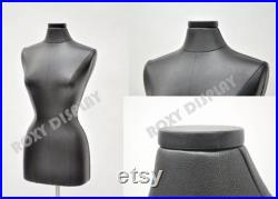 Leather Covered Female Dress Form Body Form Mannequin Size 6 8 Includes Base F6 8PU