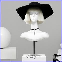 Luxury white mannequin head, Wig Hat stand,female headpiece display jewelry EARRING head block, dress form model dummy,headphone stand head