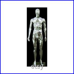 Male Chrome Mannequin With Removable Head SM1SCEG