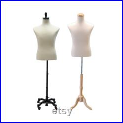 Male Shirt Form Dress Form Body Form Mannequin Torso Fully Pinnable With Base 33M01